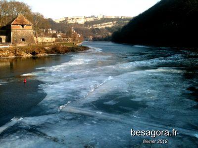 Doubs gelé
